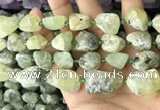 CNG8663 12*16mm - 18*25mm nuggets green rutilated quartz beads