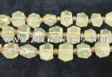 CNG8673 12*20mm - 20*33mm faceted nuggets lemon quartz beads