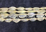 CNG8682 12*23mm - 15*25mm faceted freeform lemon quartz beads