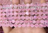 CNG8690 15.5 inches 6mm faceted nuggets rose quartz beads