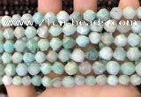 CNG8711 15.5 inches 8mm faceted nuggets amazonite gemstone beads