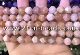 CNG8742 15.5 inches 8mm faceted nuggets moonstone gemstone beads