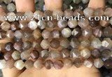 CNG8751 15.5 inches 8mm faceted nuggets moonstone beads wholesale