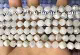 CNG8757 15.5 inches 8mm faceted nuggets white moonstone beads