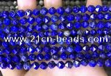 CNG8762 15.5 inches 6mm faceted nuggets lapis lazuli beads