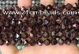 CNG8770 15.5 inches 8mm faceted nuggets garnet gemstone beads
