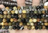 CNG8776 15 inches 8mm faceted nuggets jasper gemstone beads