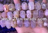 CNG8780 15 inches 13*20mm - 15*24mm faceted nuggets sakura agate beads