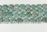 CNG8817 15.5 inches 16mm - 20mm faceted freeform amazonite beads