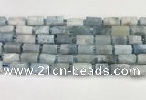 CNG8854 15.5 inches 8*12mm - 10*16mm nuggets matte aquamarine beads