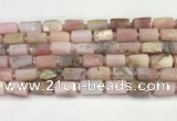 CNG8859 15.5 inches 8*12mm - 10*16mm nuggets matte pink opal beads