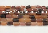 CNG8861 15.5 inches 8*12mm - 10*16mm nuggets matte carnelian beads