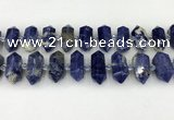 CNG8903 10*25mm - 14*30mm faceted nuggets sodalite beads