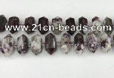 CNG8904 10*25mm - 14*30mm faceted nuggets tourmaline beads