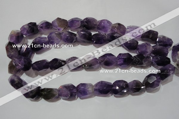 CNG903 15.5 inches 15*20mm – 18*26mm faceted nuggets amethyst beads