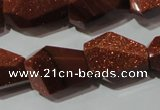 CNG906 15.5 inches 13*18mm – 15*22mm faceted nuggets goldstone beads