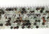CNG9073 15.5 inches 6mm faceted nuggets ghost crystal  gemstone beads