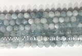 CNG9085 15.5 inches 8mm faceted nuggets aquamarine gemstone beads