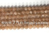 CNG9096 15.5 inches 8mm faceted nuggets moonstone gemstone beads