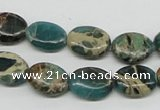 CNI11 16 inches 10*14mm oval natural imperial jasper beads wholesale