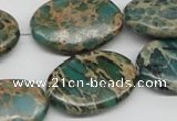 CNI12 16 inches 20*30mm oval natural imperial jasper beads wholesale