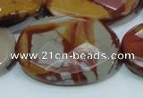 CNJ05 15.5 inches 30*40mm faceted oval natural noreena jasper beads