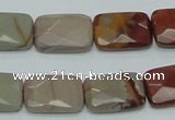 CNJ12 15.5 inches 13*18mm faceted rectangle natural noreena jasper beads