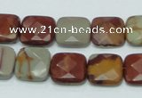 CNJ15 15.5 inches 15*15mm faceted square natural noreena jasper beads