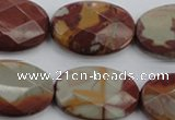 CNJ52 15.5 inches 20*30mm faceted oval noreena jasper beads