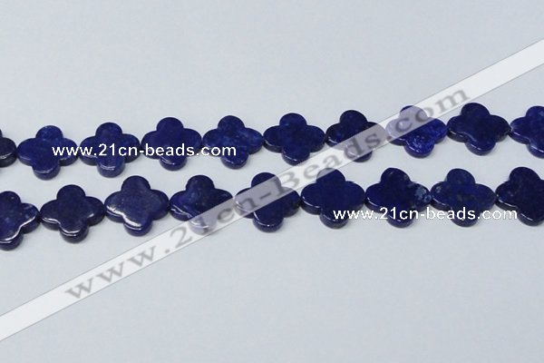 CNL1283 15.5 inches 20mm flower natural lapis lazuli beads