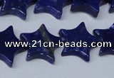 CNL1286 15.5 inches 18mm star natural lapis lazuli beads