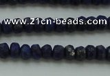 CNL1400 15.5 inches 2.5*4mm faceted rondelle lapis lazuli beads