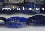 CNL1608 15.5 inches 12*25mm - 14*30mm faceted nuggets lapis lazuli beads