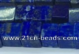CNL1674 15.5 inches 7*7mm cube lapis lazuli gemstone beads