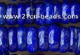 CNL1694 15.5 inches 3*8mm - 4*8mm rondelle lapis lazuli beads