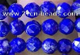 CNL1705 15.5 inches 4mm faceted round lapis lazuli beads