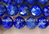 CNL1716 15.5 inches 6mm faceted round lapis lazuli beads