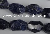 CNL441 15.5 inches 12*20mm faceted nuggets natural lapis lazuli beads