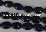 CNL479 15.5 inches 8*12mm oval natural lapis lazuli gemstone beads