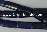 CNL541 15.5 inches 8*16mm flat tube natural lapis lazuli gemstone beads