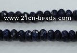 CNL872 15.5 inches 5*8mm faceted rondelle natural lapis lazuli beads