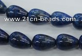 CNL901 15.5 inches 10*14mm teardrop natural lapis lazuli gemstone beads