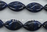CNL952 15.5 inches 12*20mm marquise natural lapis lazuli gemstone beads