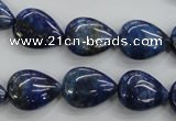 CNL955 15.5 inches 12*16mm flat teardrop natural lapis lazuli beads