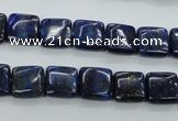 CNL961 15.5 inches 10*10mm square natural lapis lazuli gemstone beads