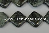 CNS430 15.5 inches 16*16mm diamond natural serpentine jasper beads