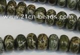CNS512 15.5 inches 8*12mm rondelle natural serpentine jasper beads