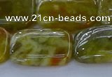 CNS674 15.5 inches 18*25mm rectangle green dragon serpentine jasper beads