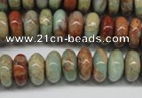 CNS74 15.5 inches 6*12mm rondelle natural serpentine jasper beads