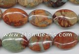 CNS92 15.5 inches 13*18mm oval natural serpentine jasper beads